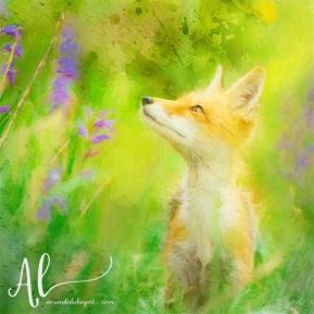 Impasto-Fox-AmandaLakeyArt.com