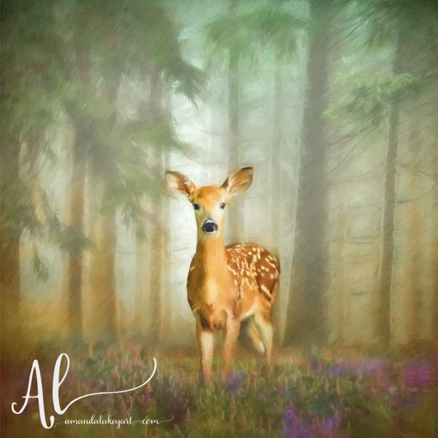 Enchanted-Doe-AmandaLakeyArt.com
