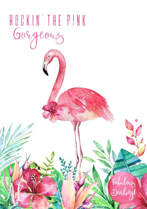 Fabulous-Flamingo---Rockin'-The-Pink-AmandaLakeyArt.com