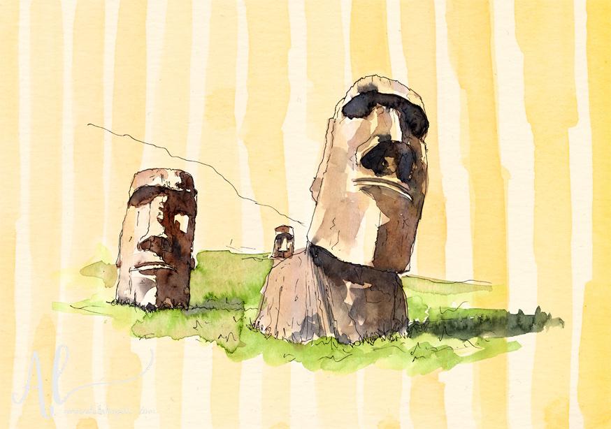 Moai-Statues-AmandaLakeyArt.com