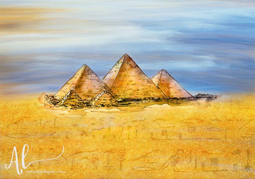Secrets-In-The-Sand-Pyramids-AmandaLakeyArt.com